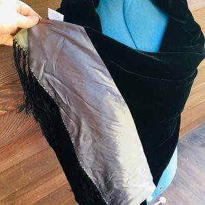 Huge Velvet Silk Fringe Shawl